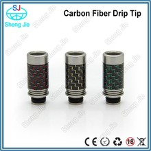 2015 Hot selling e cig wide bore drip tip carbon fiber drip tip