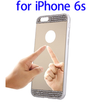 2015 New Diamond Encrusted Mirror Cell Phone Case for iPhone 6s TPU