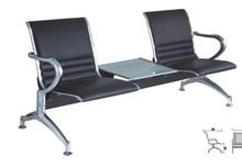 hospital waiting chair with PU cushion and tea table salon waiting chairs