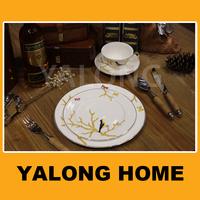 Factory Supplier Fine Bone China Cheap Italian Dinner Plate Sets