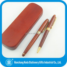 Good quality wood pen set wood twist ball pen & roller pen with box for gift