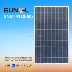 40 solar panels 250 watt for 10KW solar power system
