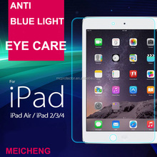 for iPad whole sale tempered glass screen guard, clear LCD screen protector cover