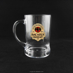 disposable plastic drinking beer cup with handle,acrylic mug,acrylic beer cup