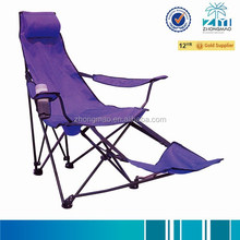 Camping chair with foot rest