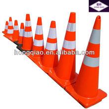 12/18/28/36 Inch Fluorescent Flexible Orange Color PVC Cone