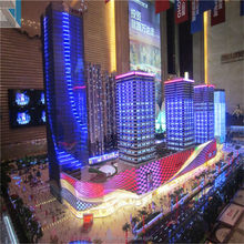 Grand,Neon Lights- flow,Crystal Scale Building Model with Excellent 3D Renderings Drawings