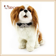 wholesale good quality diamond bow tie pet dog collar
