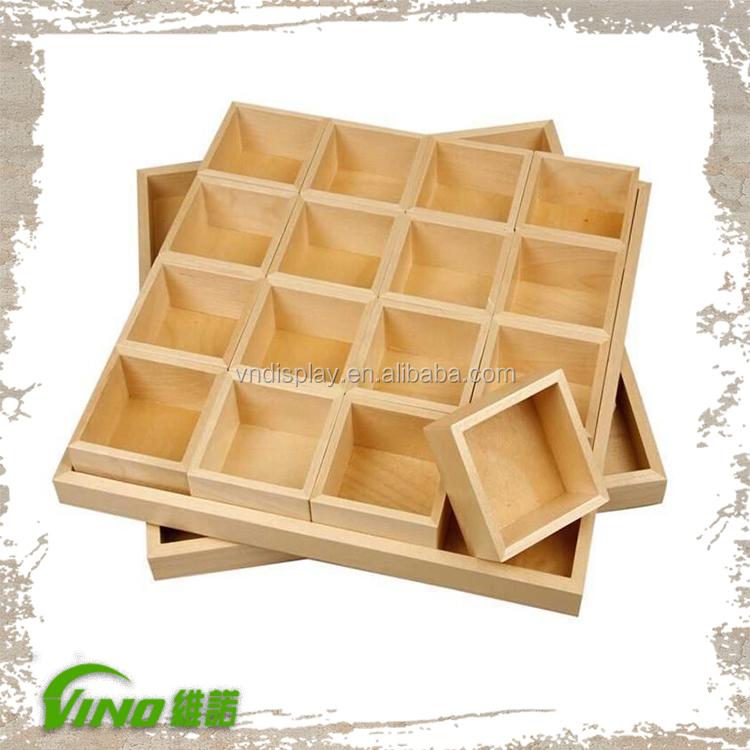 plaine en bois bo te de rangement sur compartiment bijoux. Black Bedroom Furniture Sets. Home Design Ideas