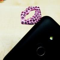 Sexy Lips Anti Dust Ear Cap Plug For iPhone 6 3.5mm Earphone Jack