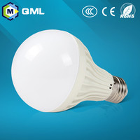 fatory wholesale b22 led bulb 3w 5w 7w 9w 12w pc+acrylic RC driver with aluminum heat sink 2 years warranty