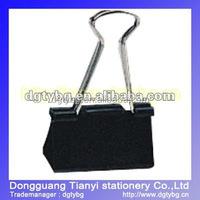 Paperback black tail Binder clip fancy binder clip
