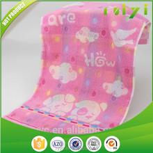 100%cotton cheap embroidery little dog design kids children face towel