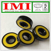 IMI Brand 608 2RS Colorful skateboard bearings / Bearing longboard / Yellow Plastic cover bearing