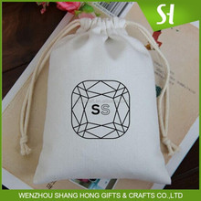 cotton drawstring pouch with logo printing/eco friendly cotton bag