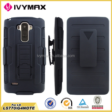 All cool black Robot holster combo cases for LG G4 Note/LS770