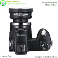 16MP Black Digital camera DSLR 5 5 modes with wide anlge lens and telephoto lens for free,camera noir numerique