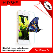 HUYSHE anti-scratch,anti-fingerprint,ultra-thin tempered glass screen protector for iphone 5