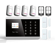 Advanced Touch Panel TFT Color Display IPHONE&ANDROID app Wireless GSM home alarm system