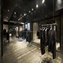 Man clothes retail shop display rack