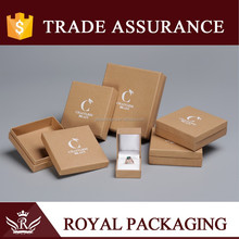 High Quality Competive Price Fold Kraft Jewelry Boxes/Custom Made Recycled Brown Kraft Paper Box with Logo Print
