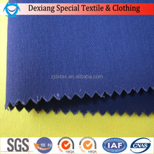 DX hot sales blue 100% cotton antifire fleece fabric and water repellent fabric coal and oil worker
