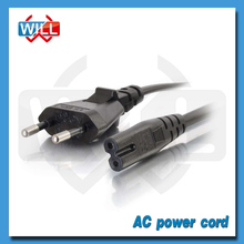 VDE approval 2.5A European 2 pin power cord with C7 C5 plug