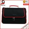 Black 600D Polyester Travel Handbag Organizer Makeup Cosmetic Case Toiletry Bag