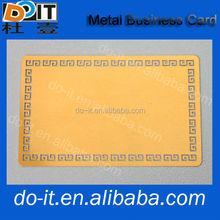 Forma quadrata carne biglietto da visita design personalizzato biglietto da visita, metallo biglietto da visita