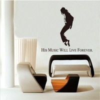 100pcs Michael Jackson wall sticker living room wall stickers bedroom wall stickers