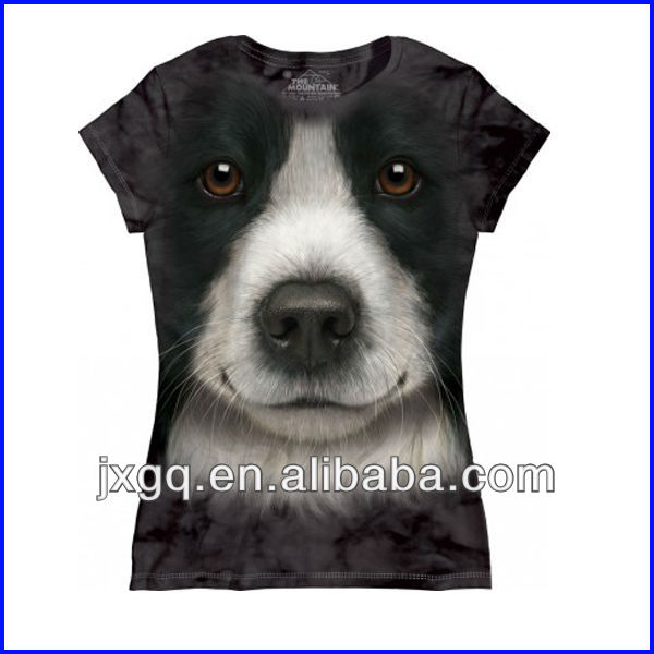 Moda 100% polyester toptan cutom tasarım süblimasyon baskı dijital baskı 3d tshirt