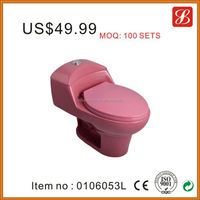 China ceramic one piece pink colored toilets