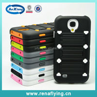 2014 Hot Selling Soft Silicone and Hard PC Hybrid Phone Case for Samsung Galaxy S4