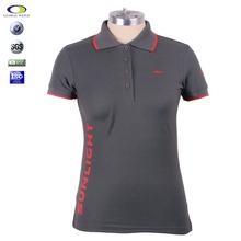 Personalizado en color Gris CVC TC polo bordado de 100% algodón de alta calidad