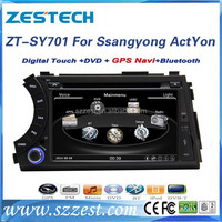 ZESTECH China Factory OEM Best Price Corex A8 RDS 3G V-10disc Powerful CPU Car DVD GPS Navigation for Ssangyong Actyon