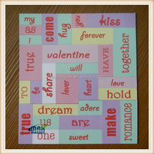 Pomotional gifts good looking removable fridge magnet words