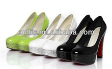 2015 fashion high heel frosted platform shoes ladies light green pumps shoes CP6459