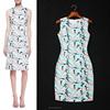 2015 fresh surfing patterns sleeveless slim fit dress