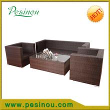 elegant aluminum furniture dining room for garden rattan sofa