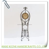 large antique metal floor stand clock