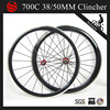 Glossy surface carbon aluminum bicycle wheels 38/50mm clincher alloy brake surface carbon wheelset for road bike