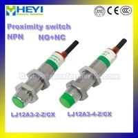 LJ12A3-4-Z/CX proximity switch LJ12A3-2-Z/CX NO+NC 12V dc Proximity Sensor NPN 12mm metal