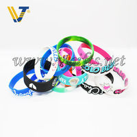 personalized silicon wristband with embossed logo
