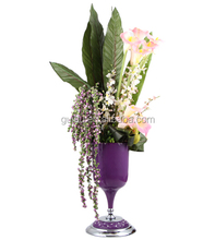 2015 Hot Sale Special Design Purple Modern Decorative Flower Vase for Lady JHF14-2295B