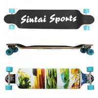 TWIN TIP RIDER LONGBOARD - skateboard wooden cruiser
