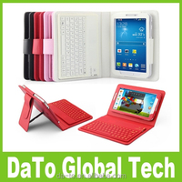 7 inch PU Leather Bluetooth Tablet Keyboard Case for Samsung Galaxy Tab 4 3 P3200