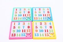 small toys promotion fun ABS hot plastic sliding puzzle with EN71