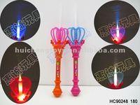 Latest musical flashing fiber optic magic spinner toys for children