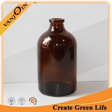 Moulded Brown Glass Injection Bottle For Antibiotics