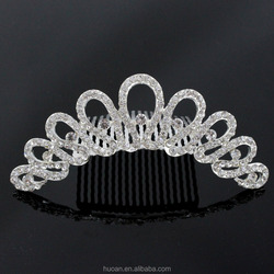 European fashion diamond beauty wedding tiara hot sale for stock